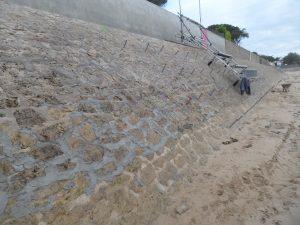 benaiteau renforcement perrés maçonnés lutte contre la mer