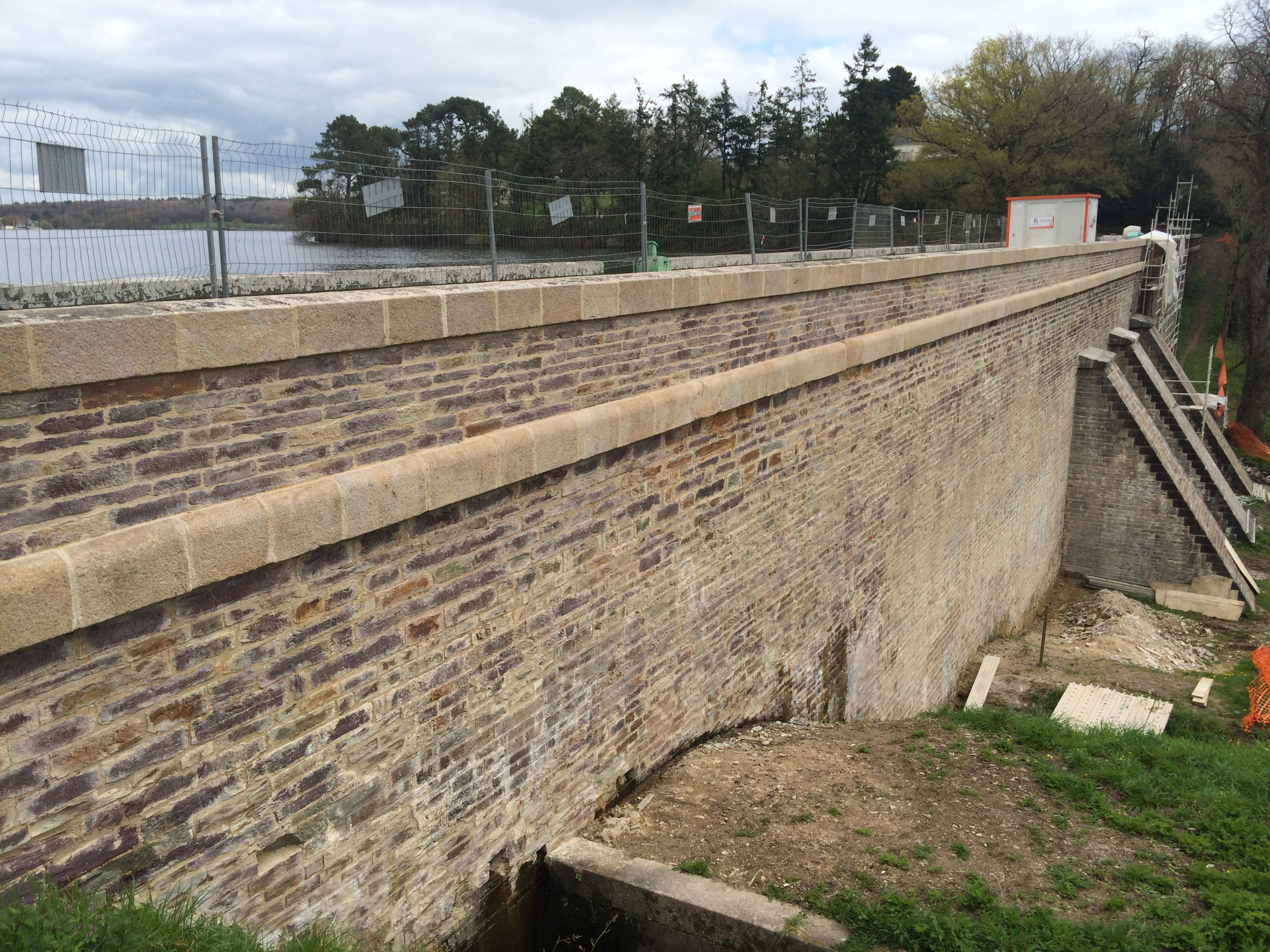 Barrage de Vioreau - Benaiteau - consolidation barrage