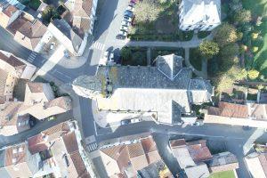 Eglise de Chambretaud inspection drone benaiteau