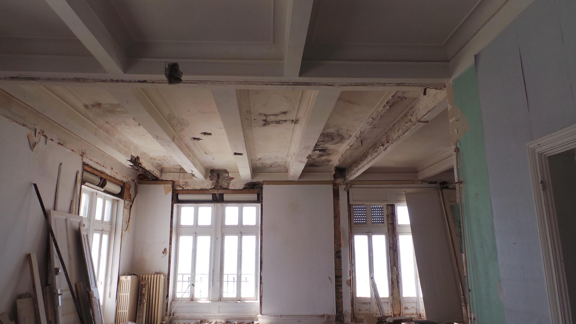 benaiteau enduit décoratif intérieur pendant les travaux