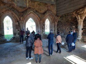 Visite élus - chantier Benaiteau -Abbaye de Trizay1