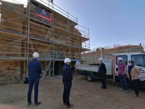 Visite élus - chantier Benaiteau -Abbaye de Trizay2